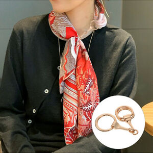 1Pc Portable All-match Scarf Buckles Clothing Buckle for Female