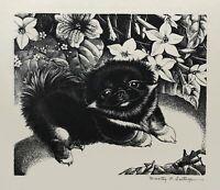 DOROTHY P. LATHROP - 'KOO HSIUNG', signed engraving, Woodcut Society, 1944