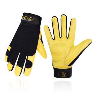 Leder Arbeitshandschuhe für Herren & Damen Sicherheit Mechaniker Handschuhe