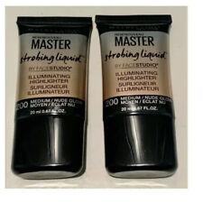 Lot of 2 -Maybelline Master Strobing Liquid Illuminating Highlighter- 200 Medium