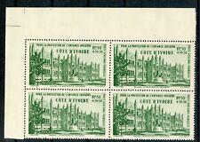 TIMBRE FRANCE COLONIES FRANCAISES NEUF BLOC DE 4 / COTE D'IVOIRE PA N° 6 **
