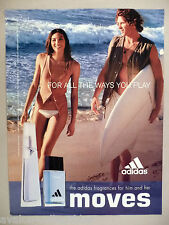 Adidas Moves Fragrance Perfume PRINT AD - 2004  ~~ Cologne, beach, surfers