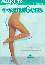 Sanagens Collant MALICE 70 den compressione graduata maglia liscia Calze