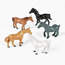 24 VINYL HORSES ASSORTMENT Gifts,Party Favors/Decor CAKE TOPPERS PLAY SET NEW