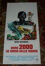 LOCANDINA B,ANNO 2000 LA CORSA DELLA MORTE, DAVID CARRADINE, STALLONE, AUTO, CAR