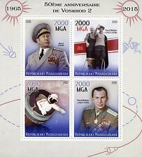 Madagascar 2015 MNH Voskhod 2 Space Mission 50th 4v M/S Belyayev Leonov Stamps