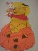 Vintage 1998 Halloween Winnie The Pooh & Piglet On Jako Lantern Banner 41x21