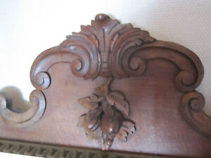 antiques french handcarved wood pediment  dated 1880