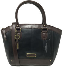 NWT Tignanello Hide and Seek Satchel, Black/Dark Brown, T15008A, MSRP: $169.00