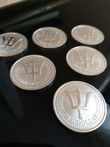 2020 Barbados Silver Trident Coin