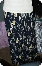 WOMENS  Bohemian STYLE  Fashion Elegant Floral CHINTZ  Long Maxi skirt 3PC BLUE