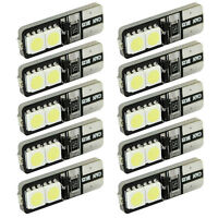 10pcs CANBUS ERROR FREE LED White T10 168 194 W5W Wedge 4 SMD 5050 Light bulb CH