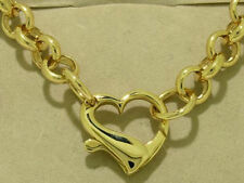Yellow Gold Love Hearts Chain Fine Necklaces & Pendants