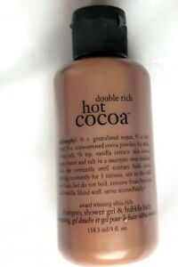 New Philosophy Double Rich Hot Cocoa 3 in 1 Shower Gel Body Wash 4 oz