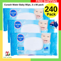 Curash Water Baby Wipes For Sensitive Skin Soap Free Super Soft Pack of 240 NEW