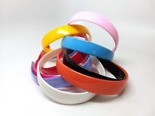 "10 pcs Plastic Headbands - 25mm (1"" wide) - Teeth for better hold! Variety Pack"