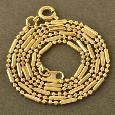 9k Gold Filled Womens Beaded lucky Chain Necklace,20 Inch Free Shipping LOT