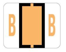 Smead Manufacturing BCCS Bar-Style Color-Coded Alphabetic LtOrange Label 67