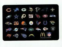 McDonalds Gift Card NFL Football Team Logos - 2014 - No Value - I Combine