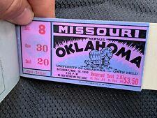 1950 Antique Ticket Stub Lot College Football OU Sooners University of Oklahoma