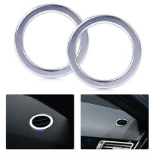 2pcs Chrome Air Vent Trim frame Ring fit Benz X204 300 350 GLK Class 2009-2015