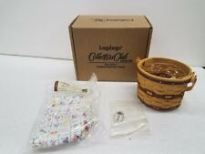 Longaberger Collectors Club Cc May Series Miniature Basket Combo Sweet Pea New