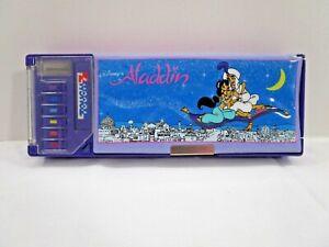 Vintage Touch 7 Disney Aladdin Purple Pencil Case Storage Organizer