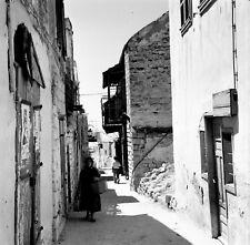 SAFED c. 1960 -Vieille Rue Haut Lieu Kabbaliste Israël - Négatif 6 x 6 - ISR 62