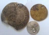 Lote 3 , Auténtico Europeo Monedas Fichas Leopoldus Hungría Turquía