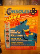 CONSOLES PLUS N° 24 1993 NINTENDO SEGA REVUE aladdin mega cd