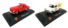 Set of 2 Model Cars 1:43 Trabant Pick Up + Wartburg - ATLAS DIECAST DDR021+38
