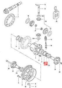 Genuine Volkswagen Drive Wheel Speedometer NOS Audi 4000 quattro 5000 016409187