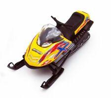 "5.5"" Kinsfun Snow Turbo Diecast Model Toy Pull Back Action Yellow"