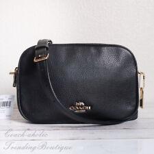 NWT Coach F39856 Leather Jes Crossbody Camera Bag in Black