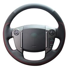 Top Leather Steering Wheel Hand-stitch on Wrap Cover For Land Rover Freelander2