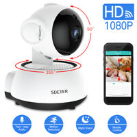 Wireless WIFI Pan Tilt Security IP Camera IR Night Home Webcam Baby Monitor