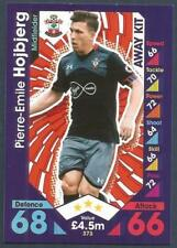 TOPPS MATCH ATTAX 2016-17- #373-SOUTHAMPTON-PIERRE-EMILE HOJBJERG-AWAY KIT