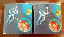 Vintage Astronaut Astronauts Crazy Smily Light Yo-Yo Red & Blue - Set of 2