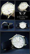 Classic Moments IP Gold Plated Cavadini DESIGNER MEN'S WATCH SAPPHIRE COATED