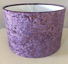 Handmade Lampshade In a Amethyst Velvet, Purple, Lavender, Stunning, 30cm Drum