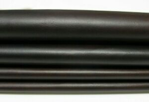 THIN DARK BROWN DISTRESSED ANTIQUED Italian CALF Leather skins 7+sqf 0.3mm 4596