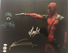 STAN LEE AND ROB LIEFELD SIGNED DEADPOOL 16X20 JSA LEE HOLO X-MEN