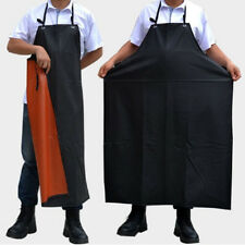 Women Men Waterproof PU Leather Apron Anti-Oil Kitchen Cooking Restaurant Chef