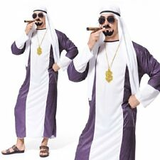 Dubai Gangster Adults Arabian Night Sultan Arab Sheik Mens Fancy Dress Costume