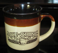 Vintage Hardees Rise and Shine Homemade Biscuits Coffee Mug Cup 1986 Restaurant