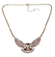 Rustic Gold American Eagle Inspired Retro Chain Pearl Stone Designs Unqiue(Ns8)