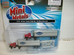 N Scale CMW 51174 54Ford Tractor-Trailer Set The Mason Dixon Line