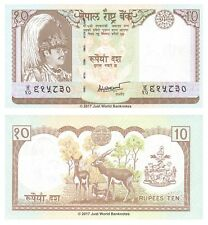 Nepal 10 Rupees 1985-87  P-31b Banknotes UNC