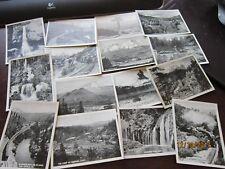 """ANTIQUE 15 Souvenir Pictures 3 1/2 x 2 1/2"""" Mini Photos SHASTA ROUTE 1924 mail"""
