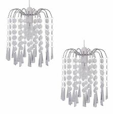 Clear Cascading JEWEL Droplets Ceiling Light Pendant Shade Chandelier